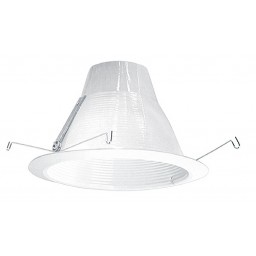 """6"""" Recessed lighting air tight white baffle White trim GUARANTEED FIT"""