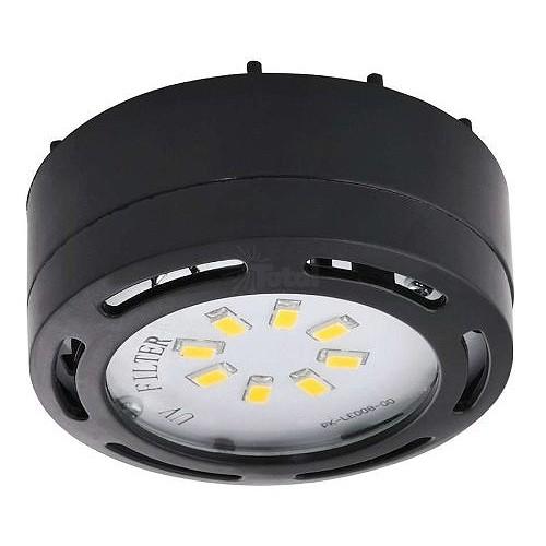led black puck light 4watt 120volt recessed or surface. Black Bedroom Furniture Sets. Home Design Ideas