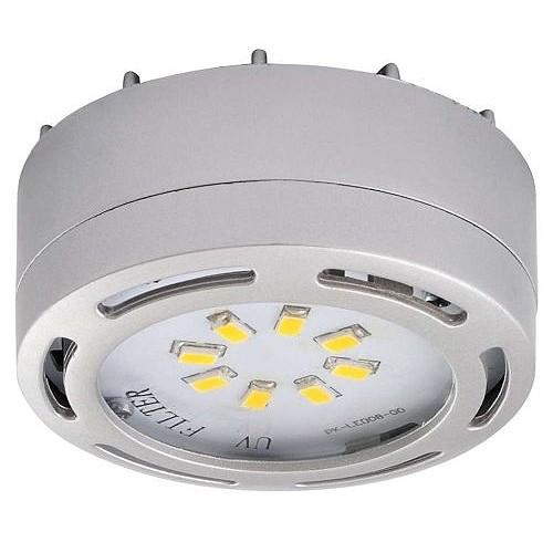 led satin nickel puck light 4watt 120volt recessed or. Black Bedroom Furniture Sets. Home Design Ideas