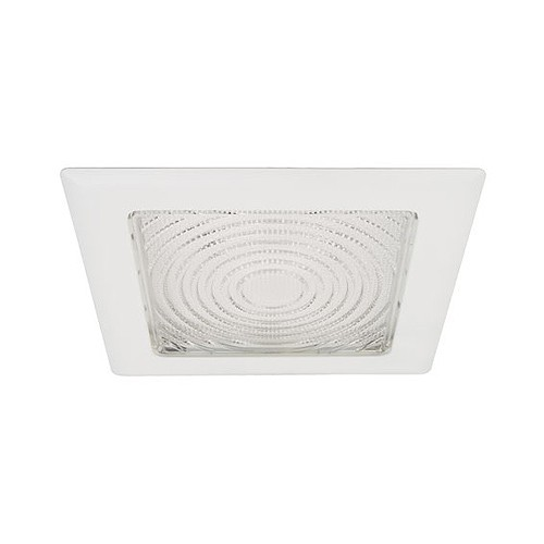 8 Recessed Lighting Square Fresnel Lens White Trim