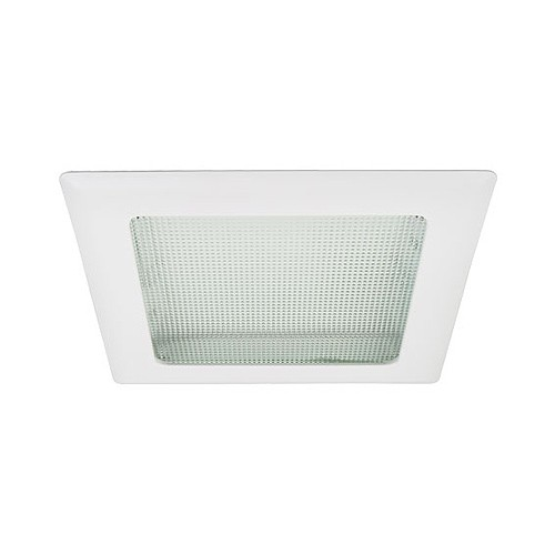 8u0026quot; Recessed lighting square prismatic lens white trim