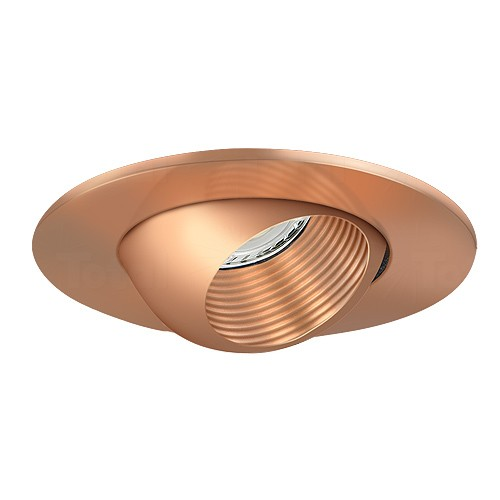 3 low voltage recessed lighting copper baffle copper eyeball trim. Black Bedroom Furniture Sets. Home Design Ideas