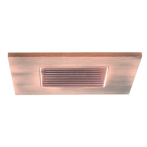 3 low voltage recessed lighting copper square baffle copper square trim. Black Bedroom Furniture Sets. Home Design Ideas