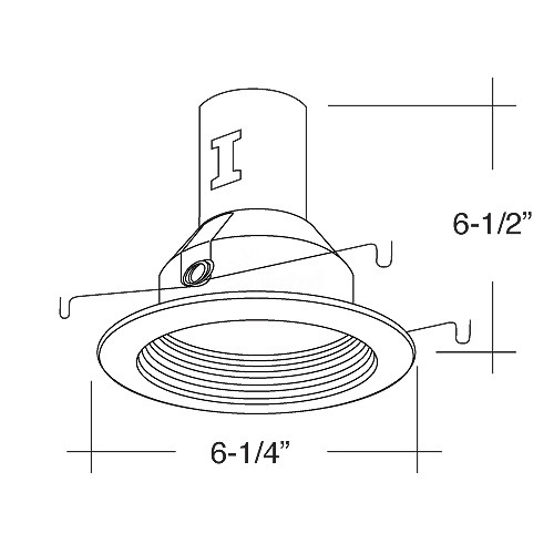 5 u0026quot  line voltage recessed remodel white trim kit