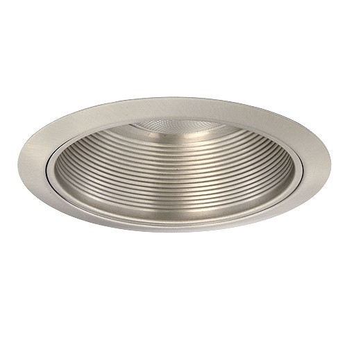 6 Recessed Lighting Par 30 R 30 Satin Metal Stepped Baffle Satin Trim K