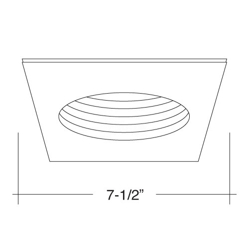 6 u0026quot  recessed lighting satin stepped baffle satin square trim