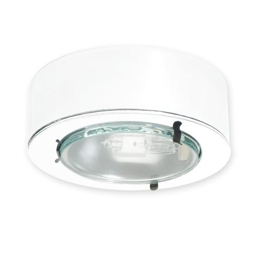 led egressed glass lens white puck light 12volt at 20watts. Black Bedroom Furniture Sets. Home Design Ideas