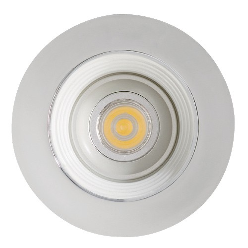 led under cabinet recessed white baffle chrome trim 12 volt 1 watt