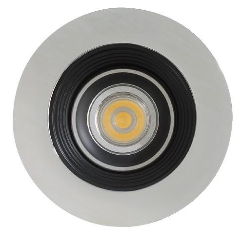 Trim To Hide Undercabinet Lights: LED Under Cabinet Recessed Black Baffle Chrome Trim 12