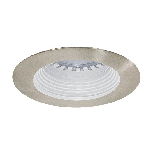 led under cabinet recessed white baffle satin trim 12 volt 3 watt mr16