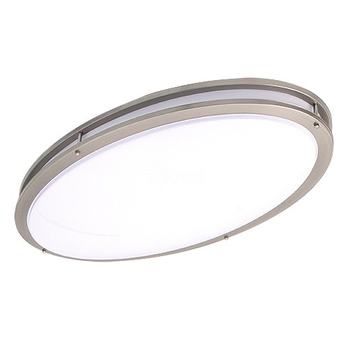 Led 32 Quot X 18 1 4 Quot Oval Two Ring Satin Nickel Ceiling