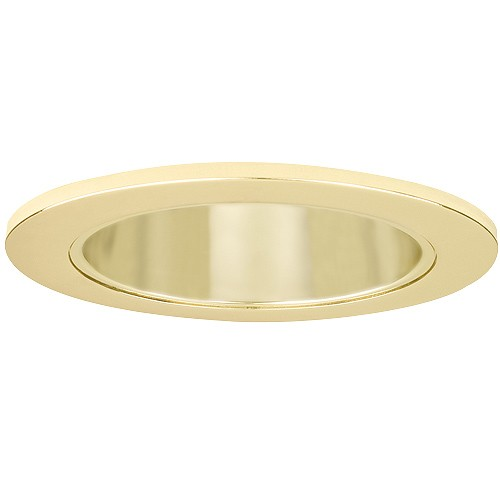4 Recessed Lighting LED Retrofit Gold Reflector Polished