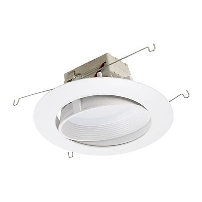 6  dimmable adjustable LED recessed lighting retrofit white baffle eyeball trim for slope ceilings  sc 1 st  Total Recessed Lighting & 6