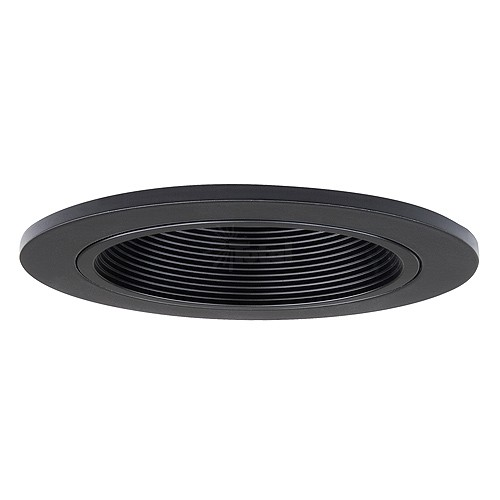 low voltage recessed lighting black stepped baffle black trim