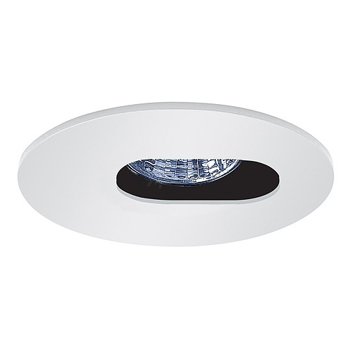 low voltage recessed lighting white slot aperture trim adjustable