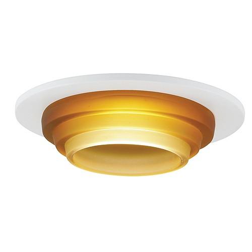 Recessed Lighting Glass Trim : Quot low voltage recessed lighting amber glass white