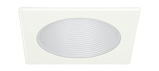 4  low voltage recessed lighting white metal stepped baffle white square trim  sc 1 st  Total Recessed Lighting & 4