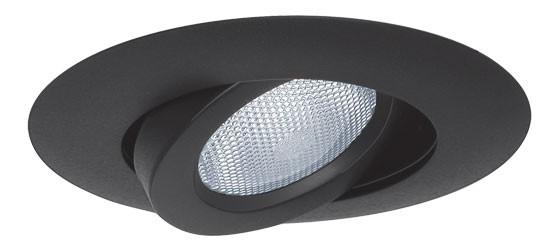 5 Quot Recessed Lighting Black Adjustable Gimbal Trim