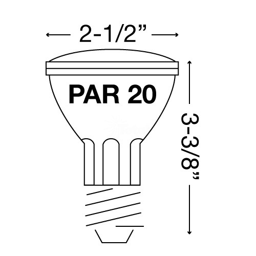 Recessed Lighting Sylvania 16110 Par 20 Capsylite Double