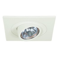 "3"" Low voltage recessed lighting fully adjustable white gimbal ring eyeball square trim"