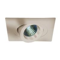 "4"" Low voltage recessed lighting 35 degree tilt fully adjustable satin baffle satin square eyeball trim"