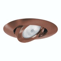 "4"" Recessed lighting Par 20 bronze gimbal ring trim"