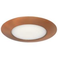 "6"" Recessed lighting albalite lens bronze shower trim"