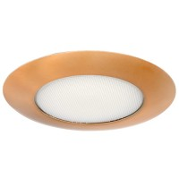 "6"" Recessed lighting albalite lens copper shower trim"