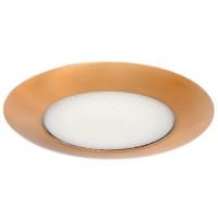 "6"" Recessed lighting albalite lens copper shower trim"