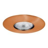 """6"""" Recessed lighting Par 30 R 30 copper open trim"""