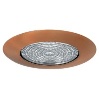 "4"" Recessed lighting glass fresnel lens bronze shower trim"