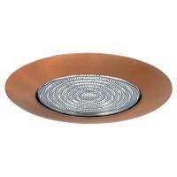 "4"" Recessed lighting glass fresnel lens bronze shower trim"