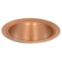 "6"" Recessed lighting Par 38 R 40 copper metal stepped baffle copper trim"