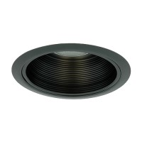 "5"" Recessed lighting black baffle black trim"