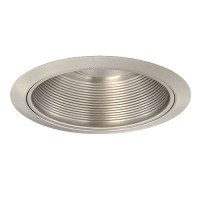 "5"" Recessed lighting baffle trim satin nickel"
