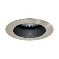 LED under cabinet recessed black baffle satin trim 1 watt MR 11 LED