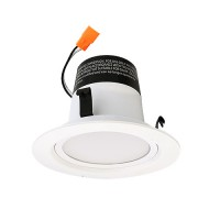 "Green Watt G-L4-DL4DWP-12W-4000K 4"" dimmable LED recessed lighting 12watt retrofit white reflector trim 4000K"