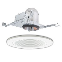 "5"" line voltage recessed new construction white trim kit"