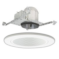 "6"" Line voltage recessed new construction white trim kit"