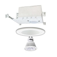 "4"" LED Recessed lighitng Gu10 MR16 new construction IC white trim kit dimmable"