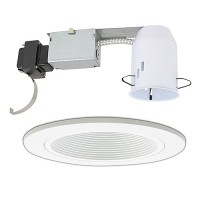 "3"" Low voltage recessed magnetic remodel white trim kit"