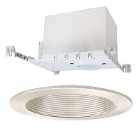 "4"" Low voltage recessed new construction satin trim kit"