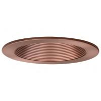 "4"" Recessed lighting air tight bronze baffle bronze trim"