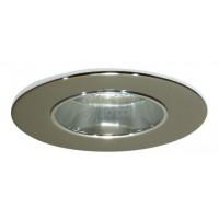 """2"""" Recessed lighting chrome reflector chrome trim"""