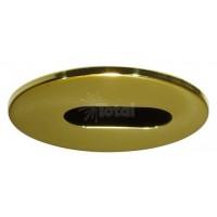 """2"""" Recessed lighting polished brass adjustable slot trim"""