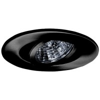 "2"" Recessed lighting adjustable 35 degree tilt black gimbal ring trim"