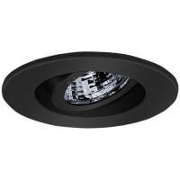 "2"" Recessed lighting adjustable 35 degree tilt black regressed gimbal ring trim"