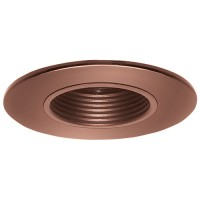 """2"""" Recessed lighting bronze stepped baffle bronze shower trim"""