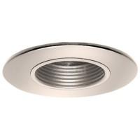 "2"" Recessed lighting satin stepped baffle bronze shower trim"