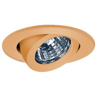 "3"" Low voltage recessed lighting fully adjustable copper gimbal ring trim"